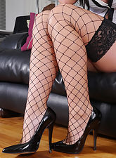 Our new girl Selina has very nice legs and she knows it! Are you good enough for her though? She needs a man who knows how to appreciate her legs and who will enjoy her lacy stockings, but who also likes her feet in high heels